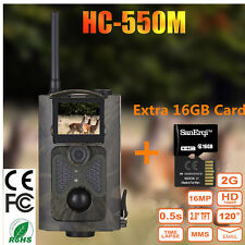 HC-550M Outdoor Hunting Trail Wide-angle Camera 16MP HD SMS MMS SMTP+16G TF Card