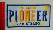 Aufkleber/Sticker: Number Pioneer Car Stereo (25071623)