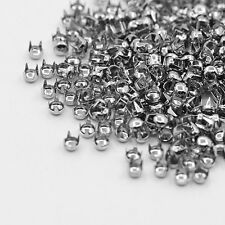 500 PCS New Silver Leathercraft DIY Round Studs Spots Spikes Rivets Punk BGBU