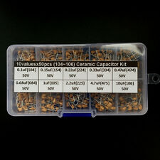 Multlayer Ceramic Capacitor Assorted kit box 0.1uF~10uF (104~106) 10values x50