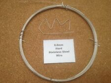 0.6mm x 10m 23 SWG Stainless Steel Wire Floristry Craft Fishing Coil Rebuilding