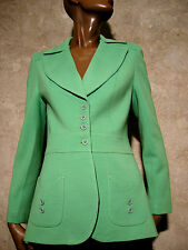 CHIC VINTAGE VESTE JERSEY 60s VTG JACKET MOD TWIGGY ANNEES 60  SIXTIES (36/38)