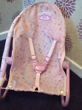BABY ANNABELL DOLLS COMFORT SEAT / BOUNCER CHAIR - ZAPF CREATIONS ORIGINAL