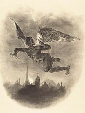 DELACROIX FRENCH MEPHISTOPHELES AIR OLD ART PAINTING POSTER BB5310A
