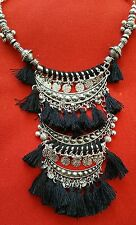 Silver Bohemian Statement Necklace Vintage Tribal African By Next Half Price