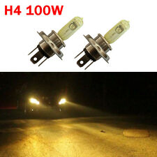 2x H4 Halogen 100W 12V Dual Low-Beam Bright Headlight Bulbs Hyper Yellow Lamp