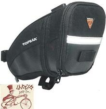 TOPEAK AERO WEDGE LARGE CLIP-ON BLACK BICYCLE SEAT SADDLE BAG PACK