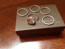 Silpada Cubic Zirconia Sterling Silver Stackable Ring Set Retired SZ 8 R1790