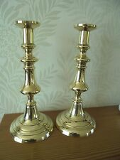Large Pair of Vintage Brass Candlesticks