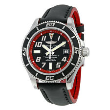 Breitling Superocean 42 Automatic Black/red Leather Mens Watch A1736402-BA31BKRD