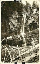 RPPC Macleod MT Looking Up Canyon from Natural Bridge, Sweet Grass Co. Used 1909