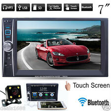 "2Din 7"" In Dash Bluetooth Stereo Car Audio DVD CD Player FM Radio iPod SD/USB TV"