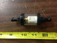 "BLACK CLEAR GLASS IN LINE FUEL FILTER FOR 5/16"" LINE"