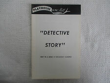 1973 Playhouse On The Mall/Detective Story Off Broadway Paramus NJ FN+