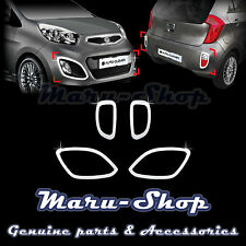 Chrome Fog Light Lamp/Reflex Lens Cover Trim for 11~ Kia Picanto/Morning 5DR