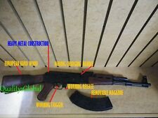 SPAIN NEW REAL WOOD & HEAVY METAL BLACK REPLICA AK-47 FULL STOCK MOVIE PROP GUN