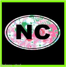 "4"" NORTH CAROLINA NC OVAL HOME PRIDE STATE CUSTOM PRINT VINYL DECAL STICKER CAR"