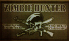 "ZOMBIE ""ZOMBIE HUNTER: SHOOT'EM IN THE HEAD"" VINYL REFRIGERATOR MAGNET 2013"
