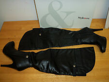 Style & Co New Womens Bethanny Black Heel Boots 5.5 M Shoes