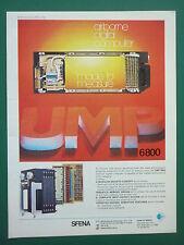 4/1975 PUB SFENA VELIZY UMP 6800 AIRBORNE DIGITAL COMPUTER ORIGINAL AD