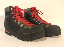 Vtg Raichle Extreme Mountaineering Hiking Leather Boots 9.5 Made in Switzerland