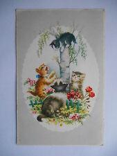 """CPSM """"Chats et chaton dans un arbre"""""""