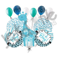 11 pc Sweet Safari Baby Boy Giraffe Balloon Decoration Party Shower Welcome Home