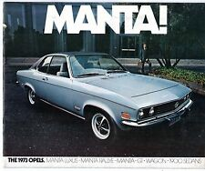 Opel Ascona Manta GT 1973 USA Market Sales Brochure 1900 Sedan Wagon
