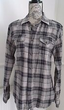 G STAR RAW BLUE CHECK SHIRT SIZE M L VGC