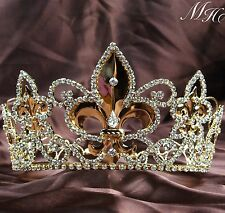 Renaissance King Tiara Gold Crown Wedding Pageant Diadem Prom Party Headpieces