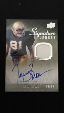 2010 Upper Deck Exquisite Signatures Game Jersey Tim Brown Auto Autograph #9/10