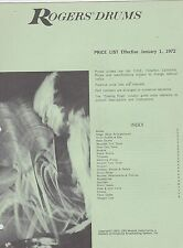 #MISC-0455 - JAN 1 1972 ROGERS DRUMS musical instrument catalog price list