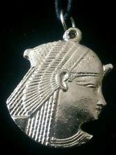 Silver Egyptian CLEOPATRA Pendant Necklace