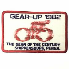 Vintage Bicycle Tour GEAR UP 1982 SHIPPENSBURG. PA Cycling Patch