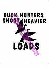 VINYL DECAL STICKER DUCK HUNTERS...FUNNY...CAR TRUCK WINDOW