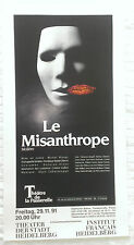 Plakat Poster - Theater - Le Misanthrope - Moliere