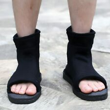 Naruto Leaf Village Ninja Black Color Cosplay Shoes Sandals Boots Costume
