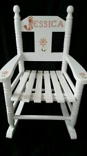 Children's Wooden Personalised Rocking Chair - any name hand painted