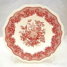 """Masons ASCOT PINK RED Rimmed Soup Bowl 9"""" x 1 1/2"""""""