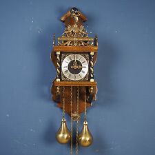 "Rare WUBA - Warmink Zaanse or Zaandam weight driven wall clock ""bim-bam"" chime"