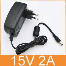 AC Converter Adapter DC 15V 2A Power Supply Charger EU plug 5.5mm 30W 2000mA