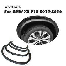 Black PP Wheel Arch Fender Flares Cover Trims BodyKit Fit for BMW X5 F15 14-16