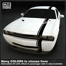 Dodge Challenger Over-The-Top Offset Stripes 2008 2009 2010 2011 2012 2013 2014