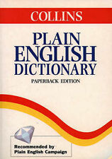 COLLINS Plain English Dictionary, Not Stated, Good Condition Book, ISBN 97800037