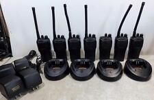 Lot 7 Motorola Radius CP200 VHF Radios AAH50KDC9AA1AN Walkie Talkies 146-174Mhz