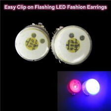 Flashing LED Fashion Clip-On Earrings Safety Party Unisex Light Nightlife Gift