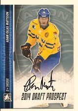 ADAM OLLAS MATTSSON 2014 LEAF IN THE GAME ITG DRAFT PROSPECTS ON CARD AUTO