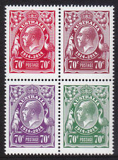 2014 King George V Centenary of Stamps - MUH Block of 4