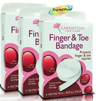 3x Carnation Tubular Bandage For Finger & Toe Injuries 4M Refill Cut To Size