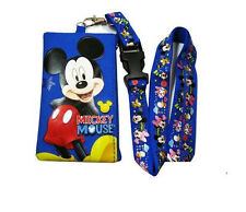 NEW Disney Lanyard Blue Mickey Mouse Lanyard With Detachable Coin Purse